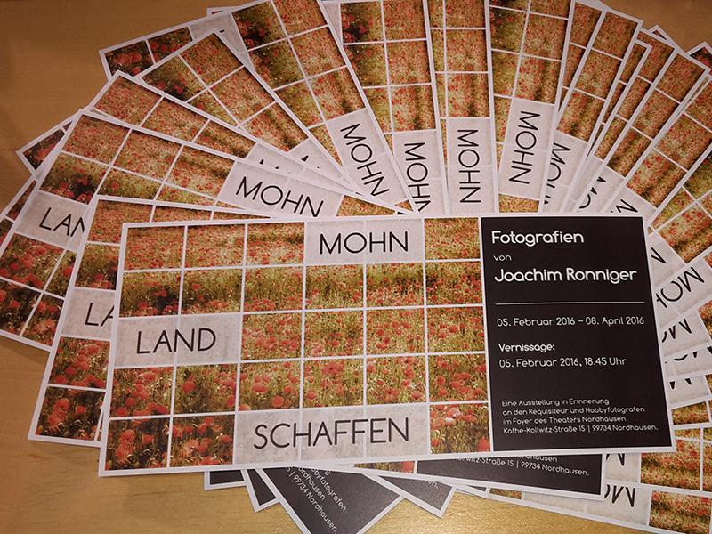 Postkarten MOHN.LAND.SCHAFFEN